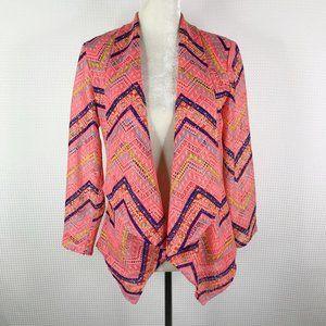 Alberto Makali Jacket Chevron Pink Cardigan Topper
